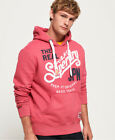 Neuer Herren Superdry Keep It Duo Hoodie Sunset Rot Meliert