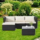 3/4/5/6/7PCS Rattan Wicker Sofa Set Sectional Couch Furniture Patio Outdoor