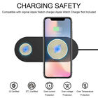 Qi Wireless Charger 10W Fast Charging Dock Mat Pad Station 2in1 For Watch/Phone