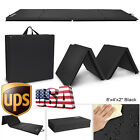 "4'x8'x2"" Gymnastics Mat Thick Yoga Folding Panel Gym Fitness Exercise Black 8FT image"