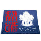 Kitchen Cooking Tea Towels - Never Trust A Skinny Chef - Cooking Cleaning
