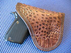 Genuine Bolivian Crocodile Leather Pocket Holster Fits Beretta Bobcat 21A 22/.25
