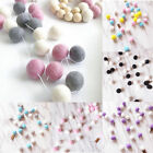 DIY Pom-Pom Fluffy Balls Felt Card Embellishments Kids Room Garland String Decor