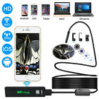 HD Wifi Endoscope Borescope Inspection 8LED Snake Camera iPhone Android PC iPad