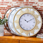 Large 22 Multi Function Wall Clock with Frame Mirror Background | Tower Shape S