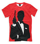 James Bond T-Shirt - red color British Secret Service Spy agent 007 $32.56 CAD on eBay