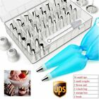7/42Pcs Cake Decorating Supplies Set Flower Icing Tips Nozzles Tools w/ Coupler