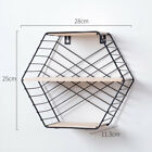 Iron Craft Hexagon Shelf Modular Wall Storage Multifunctions Home Decor Nice