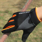 1 Pair Bike Gloves Full Finger Touchscreen Men Women Gloves Breathable Mittens
