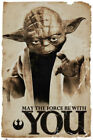 STAR WARS - YODA MAY THE FORCE BE WITH YOU Art Silk Poster 8x12 24x36 24x43 $2.59 USD on eBay