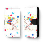 Cute Cartoon Floral Snoopy Universal Leather Print Flip Wallet Phone Case Cover