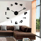 Sex Shop Sign Giant DIY Large Wall Clock Mirror Effect Wall Art Home Room Decor
