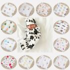 47*47 Baby Infant Floral Swaddle Blanket Cotton Sleeping Swaddle Muslin Wrap