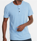 NEW Jersey Soft-Washed Slub-Knit Henley T-Shirt /Men Crew Neck 3 Buttons Fashion image