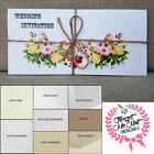 Personalised Vintage Letterfold Wedding Day Evening Invitations with Envelopes