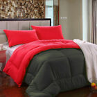Twin,Queen, King Size Reversible Down Alternative Comforter Set for  All-Season image