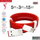 OEM Oneplus 3 3T 5 5T 6 6T USB Type C Fast Dash Charging Charge Cable 5Ft 3Ft
