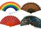 Chinese Spanish Fans Dance Wedding Party Hand Held Folding Flower Leopard Fan