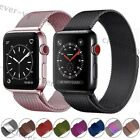 For Apple iWatch Series 3 2 1 Magnetic Milanese Loop Band Watch Strap 38mm/42mm image