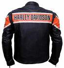 Harley Davidson Biker Genuine Leather Jacket Style Motorcycle Top CE Armored $184.77 CAD on eBay
