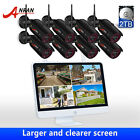 ANRAN 1080P Wireless Security Camera System Outdoor with 2TB Hard Drive CCTV NVR