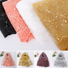 Muslim Women Floral Lace Edges Hijab Shawl Cotton Scarves Scarf Plain Maxi Scarf for sale  Shipping to Canada