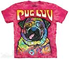 Pug Luv T-Shirt by The Mountain. Big Face Bull Dog Sizes S-5XL NEW