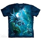 Sea Dragon T-Shirt by The Mountain. Fantasy Ocean Blue Dragons Sizes S-5X NEW image