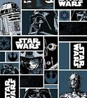 Star Wars Patchwork Logos Quilting Fabric Kids Film FQ Toss New Cotton $4.06 USD on eBay