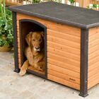Dog House Pet Wood Outdoor Shelter Wooden Large Weather Home Resistant Log Cabin