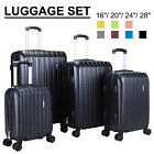 Kyпить 3/4Pcs Travel Set Bag Trolley Spinner Suitcase Luggage ABS w/Lock 16