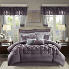 Bedroom Comforter Set 24Pc Bed In A Bag Master Guest Dorm Curtains Sheets Pillow image