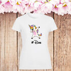Dab Unicorn Lady T Shirt Girl Fashion Gift Present Dabbing Dance Funny Tee Top