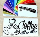 Love Coffee Cup Mug Sign Door Wall Cabinet Cafe Pub Sticker Decals Adhesive BLAC