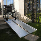 2Ft-8Ft Fold Portable Wheelchair Ramp Mobility Handicap Suitcase Thresh Aluminum