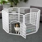Pet Pen IRIS Panel Exercise Play Door 8 Dog Playpen 4 Large Indoor Outdoor Cage