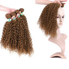 #27 Women African Kinky Curly Hairpieces Hair Extensions Hair Bund Weave Weft
