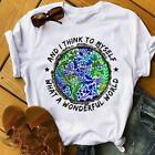 The Earth And I Think To Myself What A Wonderful World White Men T-Shirt S-6XL