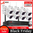 ANRAN 1080P 4/8CH Wireless Security Camera System Outdoor 2TB HDD Home Security