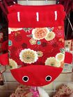 "DAISO JAPAN Japanese drawstring pouch ""KINCHAKU BUKURO"" kawaii KINGYO #2 model"