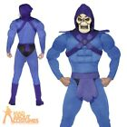 Mens Skeletor Costume He-Man Masters of the Universe 80s Fancy Dress Outfit