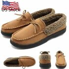 Winter Mens Plus Velvet Loafers Moccasins Suede Flats Soft Sole Slip On Outdoor