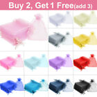 25 / 50 Organza Wedding Party Favour Gift Candy Bags Jewellery Pouch Large Small