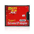 Double Micro SD TF SDHC SDXC To CF Type I UDMA HighSpeed Memory Adapters Card