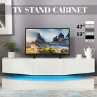 59''/47'' Floating LED TV Stand Wall Mount Console Furniture w/ 3 Large Drawers