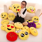 "13""Cute Emoji Emoticon Stuffed Cushion Pillow Round Plush cushion Soft Toy Doll image"