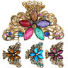 Vintage Metal Hair Claw Prom Lady Crystal Butterfly Flower Hair Clip Claw Clamps