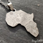 Africa Necklace Pendant Animal Symbols Chain Map Travel African Gift Charm