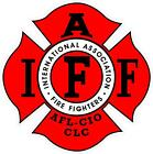 #G189 IAFF Firefighter Decal Sticker Fully Laminated