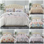 Beauty Pattern Printed 3 Piece Duvet Cover Set With Zipper Closure King/Queen